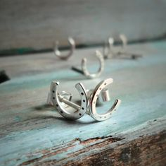 Horseshoe Earrings, Sterling Silver Equine Inspired Earrings, Minimalist Design Pretty and Cute. by MWdesignstudio on Etsy