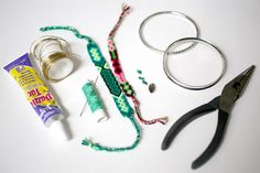 DIY Jewelry: Friendship Bangle Bracelets A modern and adult worthy update to the childhood classic!
