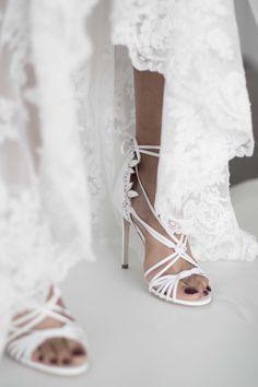 8571583315ce Wedding Shoes   Marchesa Bridal Fall 2018   Photo  The LANE Wedding Heels