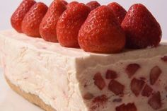 Frozen Strawberries & Cream Cheesecake