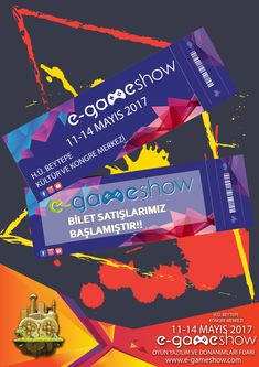 Gameshow ticket poster - You can visit the link to see more of our works on Behance!