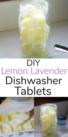 holiday and fun crafts DIY Lemon Lavender Dishwasher Tablets! Making these homemade lemon lavender d Natural Cleaning Recipes, Natural Cleaning Products, Green Cleaning Recipes, Natural Products, Clean Recipes, Cleaners Homemade, Diy Cleaners, Household Cleaners, Homemade Cleaner Recipes