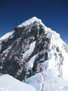Everest summit ridge