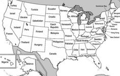 Map Us States Labeled