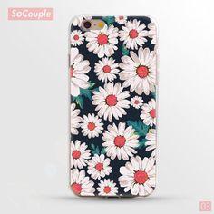Ultrathin Soft Flowers Daisy Plants Fruit Cactus Leaves pattern Phone Case - iphone 6 6s 7 6plus