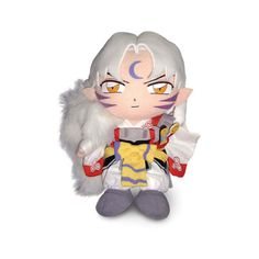 Collector's Universe and Anime: Inuyasha Sesshomaru Plush ❤ liked on Polyvore featuring plushies, anime, stuffed animals y random