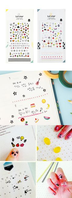 The cutest most fabulous stickers for decorating your planner AND your next nail art project~~! ^.~*