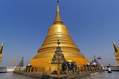 Chedi of the Temple of the Golden Mount ,Bangkok