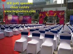 Inherent Flame Fire Retardant Poly Spandex Chair Covers For Weddingmeeting.