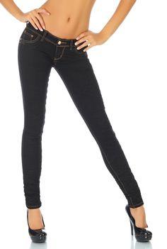 Jean slim noir coutures apparentes: Adopter un look très fashion avec ce superbe jean slim noir. On craque complètement pour son aspect froi...