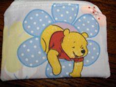 Winnie Pooh handmade zipper fabric coin by alwaysamazingdesigns, $2.99