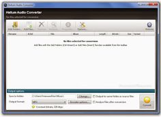 Descargar Helium Audio Converter 2.0.0.461  Helium Audio Converter es una herramienta que le permite rápida y fácilmente convertir archivos entre distintos formatos de audio con cualidades de velocidad binaria. Es compatible con la conversión de mp3, wma, onda, FLAC, M4A, MP4, Ogg Vorbis, WavPack, AAC y MPC.