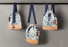 free pattern - kostenloses Schnittmuster Rucksack-Tasche