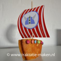 Deze kan je natuurlijk ook met een piratenvlag maken! Leuk als traktatie