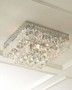 Five-Light Crystal Ceiling Fixture at Neiman Marcus.