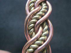 Copper Brass woven plaited Celtic Mens Bracelet by celtsmith, $25.00