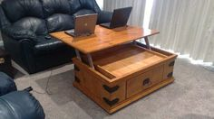 Absolutely going to do that to my coffee table chest. <3  Hack Your Coffee Table to Have a Lift-Up Top