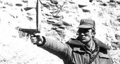 Soviet soldier in Afghanistan practicing shooting with a Stechkin-pistol (full-automatic) Save those thumbs & bucks w/ free shipping on this magloader I purchased mine http://www.amazon.com/shops/raeind  No more leaving the last round out because it is too hard to get in. And you will load them faster and easier, to maximize your shooting enjoyment.