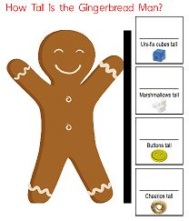 Gingerbread Measuring Printable for Preschoolers by Joni Levine, author of 365 Toddler Activities that Inspire Creativity and founder of ChildCareLounge.com