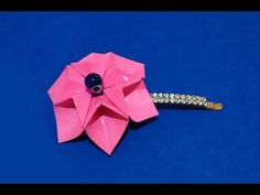 Origami necklace. Easy to do! 3d origami flower. Enjoy! - YouTube