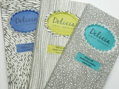 Delicia chocolate packaging. reminds me of security envelopes