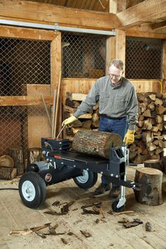 If you're considering buying a new log splitter, you may have begun to debate whether you want an electric log splitter or a gas-powered model. DR Power Equipment has some useful insight for you. Electric Logs, Electric Power, Wood Fuel, Log Splitter, Mother Earth News, Buy Wood, Electrical Outlets, Livestock, Homesteading