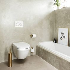 Reframe Collection by Unidrain - A scandinavian bathroom, with a home-spa feeling to it. Scandinavian Bathroom Accessories, Toilet Roll Holder, Home Spa, Bathtub, Luxury, Design, Collection, Black, Scandinavian Toilet Accessories