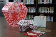 以台灣平溪天燈為主體造型,結合中國傳統剪紙藝術作為產品包裝設計。