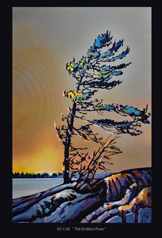 60 x40 Endless River  www. Werbeland.ca Canadian Painters, Seascape Art, Big Canvas, Earth, Watercolor, Thunderstorms, Contemporary, Acrylics, Cod
