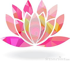 Abstract Lotus Flower | Abstract Geometric Lotus Flower In Multiple Colors Stock Vector ...