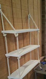 3 Tier Nautical Rope Shelf Rope Shelf Nautical Shelf Nautical Nursery SW | eBay