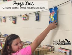 Spark Student Motivation with a Prize Line ~ A great visual to keep your students motivated! {Free idea.}