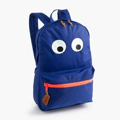 Kids' Max the monster backpack from J. Crew comes with 1.5% Cash Back through Ebates.ca