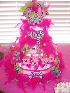 Diaper cake. I want to make for my future niece!