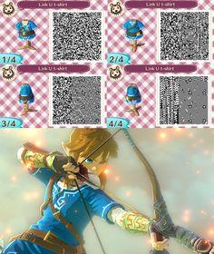 Link Zelda Wii U T-Shirt - ACNL QR by Lebasy.deviantart.com on @DeviantArt