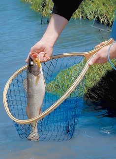 This laminated fishing net is sure to land your next catch in style.