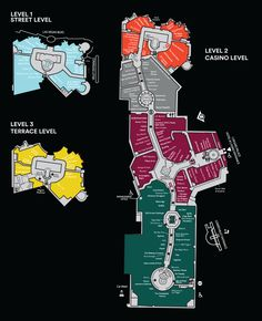 Mall Map For The Forum Shops at Caesars Palace® - A Shopping Center In Las Vegas, NV 89109-8900 - A Simon Property