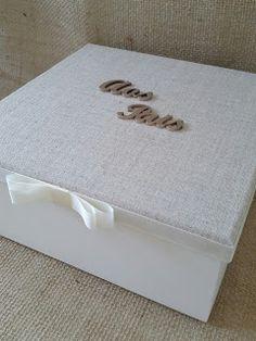 Arte lá em casa: Lembranças de Casamento - Caixa para os pais e avó...