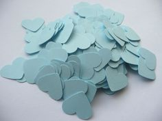 Wedding confetti hearts - Something blue - Paper hearts - 200 die cut hearts - paper heart confetti - weddings Cut Animals, Paper Confetti, Wedding Confetti, Star Wedding, Paper Hearts, Something Blue, Handmade Items, Handmade Gifts, Diy Paper