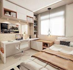 Escritorio Small Room Design Bedroom, Bedroom Closet Design, Bedroom Furniture Design, Room Ideas Bedroom, Home Room Design, Home Decor Bedroom, Minimalist Room, Bedroom Layouts, Aesthetic Bedroom