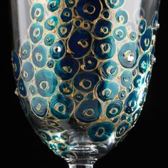 Hand-painted wine glasses with Swarovski crystals
