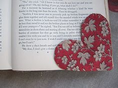 heart book marker awesome idea! I am one of those horrible people that fold down the corners so this would help!