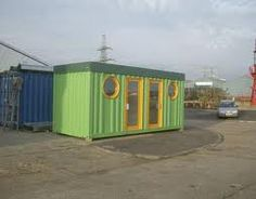 Made from a shipping container.