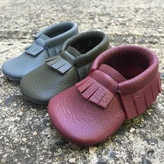 STORM • FOREST • DESERT PLUM   Baby Moccasins. Baby Moccs