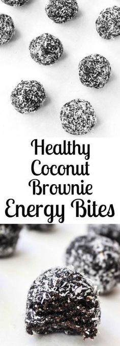 Dark Chocolate Coconut Fudge Brownie Energy Bites- a delicious healthy snack or dessert! Dark Chocolate Coconut Fudge Brownie Energy Bites- a delicious healthy snack or dessert! Ingredients 1 cup medjool dates, pitted cup raw walnuts Protein Snacks, Yummy Healthy Snacks, Energy Snacks, Healthy Baking, Dessert Healthy, Healthy Energy Bites, Healthy Chocolate Snacks, No Bake Energy Bites, Healthy Protein Balls