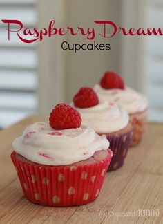 Since National Cupcake Day {for a good cause} can't be without cupcakes, I made a treat which I like to call Raspberry Dream Cupcakes. Support SPCA