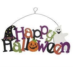 """9"""" Glitter Happy Halloween Cutout: Shopko"""