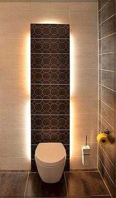 Space Saving Toilet Design for Small Bathroom - Home to Z Space Saving Toilet, Small Toilet Room, Guest Toilet, Luxury Master Bathrooms, Contemporary Bathrooms, Modern Bathroom, Master Baths, Bathroom Design Small, Bathroom Layout