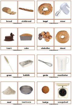 woordkaarten: Bakker downloads - Juf Sanne Fall Preschool, Preschool Learning Activities, Teaching Kids, Learn Dutch, Dutch Language, Art And Craft Videos, Creative Curriculum, Dutch Recipes, Montessori Materials