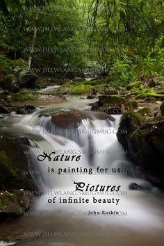 Mountain Waterfall Nature Quote